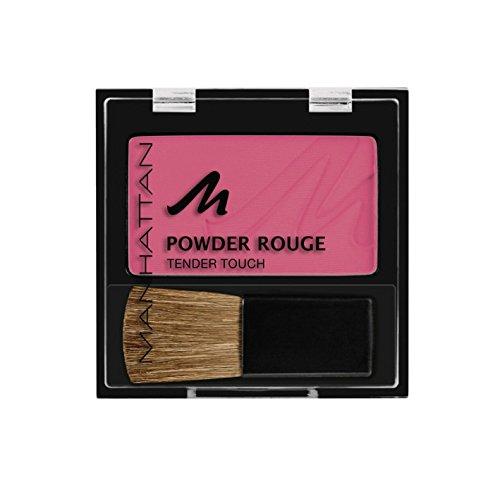 Manhattan Powder Rouge - Pinkes Blush mit Puder Textur und beiliegendem Pinsel - Farbe Pink Hunter 55H - 1 x 5g - Red Powder Blush