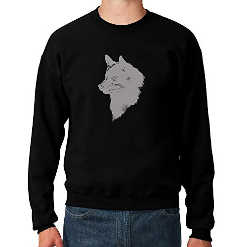 Idakoos Schipperke FACE Special Graphic Sweatshirt M (Crewneck Usa Sweatshirt)