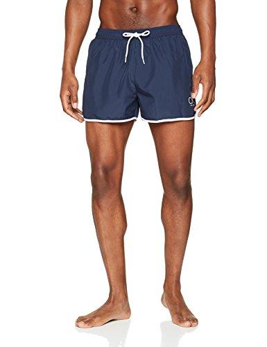 Calvin Klein Short Runner, Bañador para Hombre, Azul (Blue Shadow 470), Medium