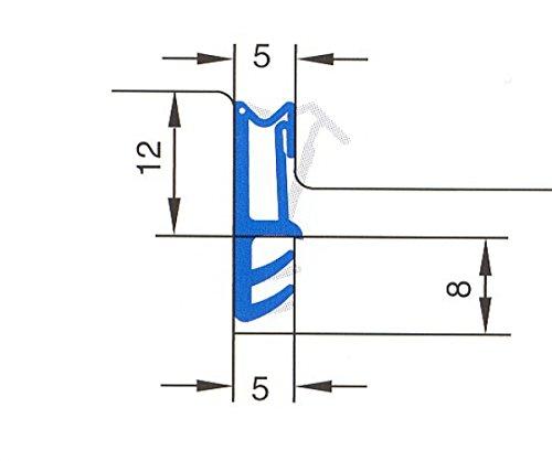 6m-Silikon-Haustürdichtung für 12mm Falzbreite in Beige, Braun, Schwarz, Weiss - WSK 1200 Farbe Braun