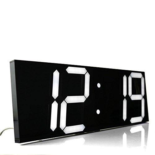 7d1cd44f637a Chihai Silencioso multifuncional Jumbo LED Digital reloj de pared con mando  a distancia