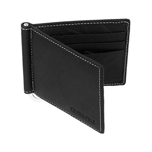 Porte Cartes de Crédit Homme Pliant en Cuir Synthétique Portefeuille Mince