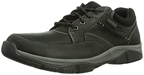 Clarks Rampart Go Gtx, Men Brogue, Black (Black Leather), 7.5 UK (41.5 EU)