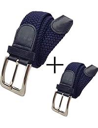 Cintura uomo MULTIPACK, Cintura Elastica Intrecciata per Uomo e Donna, Confezione Regalo, Taglie: 105cm - 110cm - 115cm - 120cm - Ampia Scelta di Colore.