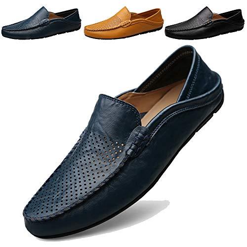KAMIXIN Mocassini Uomo Pelle Estivi Pantofole Casual Eleganti Slip On Scarpe  da ebefc6cc230