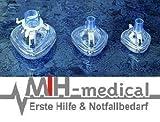 PVC Beatungsmasken Set - 3 teilig - Beatmung - Masken - MIH-medical