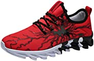 Men Women Sneakers Running Shoes, Male Couple High Top Fashion Printed Lace up Sport Shoes Absorption Wear Sne