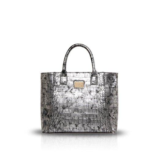 nicoledoris-nuove-donne-borsa-a-tracolla-in-pelle-tote-big-fashion-pu-bag-argento