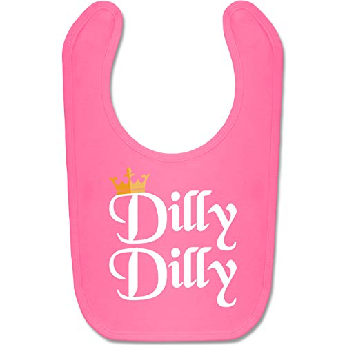 Anlässe Baby - Dilly Dilly - St. Patricks Day - Unisize - Pink - BZ12 - Baby Lätzchen Baumwolle (Baby Bierflasche Kostüm)