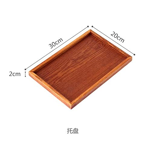Wooden tray, bread tray, rectangular dinner plate, dim sum dish,