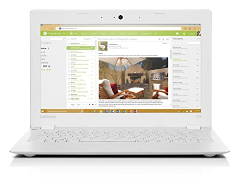 Lenovo Ideapad 100S 11.6-Inch HD Laptop (White) - (Intel Atom Z3735, 2 GB RAM, 32 GB HDD, Intel HD Graphics, Windows 10)