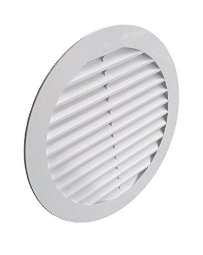 Griglia di ventilazione con tubo DN 150Bianco