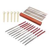 SUPVOX 18 stücke Gitarre Instrument Repair Tool Kit Schleifstein Brücke Pin Tunning Pins Kunststoff String Nägel Bünde Mutter Datei Set