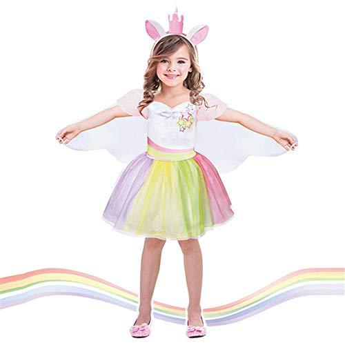 Kleinkind Kinder Party Kleider Mädchen Einhorn Kostüm Party -