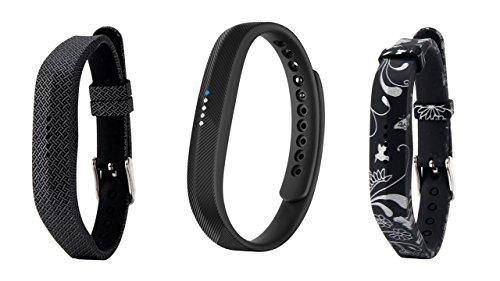 Ersatzarmband für Fitbit Flex 2, weiches Silikon, Metallverschluss oder Schnalle, Armband für Fitness-Aktivitätstracker mit Tasche, in Größe S oder L, Verkäufer aus Großbritannien