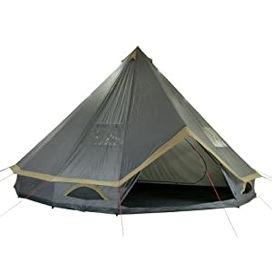 10t outdoor equipment waterproof mojave 600 plus unisex outdoor pyramid tent available in grey/beige - 12 persons