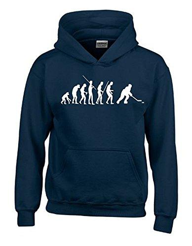EISHOCKEY Evolution Kinder Sweatshirt mit Kapuze HOODIE navy-weiss, Gr.152cm