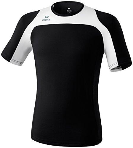 erima Erwachsene Running T-Shirt Race Line, Schwarz/Weiß, XXL, 808502 Preisvergleich