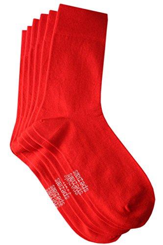 Weri Spezials Herren Socken 3-er Pack in Rot Gr. 43-46 (Socken Rote Baumwolle Aus)