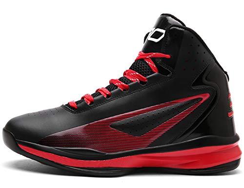 GNEDIAE Damen GNE978 High-Top Basketball Schuhe Outdoor Anti-Rutsch Sneaker Atmungsaktiv Ausbildung Turnschuhe Sportschuhe Laufeschuhe Verschleißfeste Dämpfung Basketballstiefel Schwarz 36 EU
