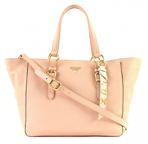 Guess Damen Bags Tote Schultertasche, 13x25x40 centimeters Pink (Rose)