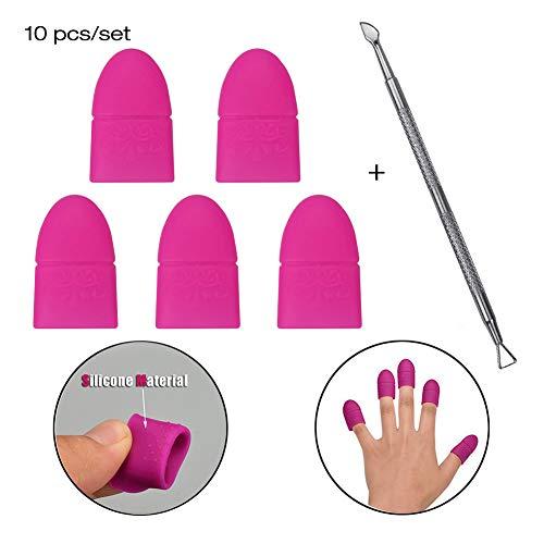 Atomus 10PCS/set silicone nail art soak off clip Cap UV gel Polish Remover Wrap nail spingi cuticole per manicure pulizia lo smalto strumento riutilizzabile