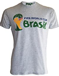 T-shirt COUPE DU MONDE 2014 de football au BRESIL - Collection officielle FIFA WORLD CUP BRASIL 2014 - Taille adulte homme