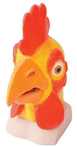 Fancy Me Erwachsene Damen Herren Rubber Das Gesicht Bedeckend Maske Animal Halloween Kostüm Kleid Outfit Zubehör - Huhn
