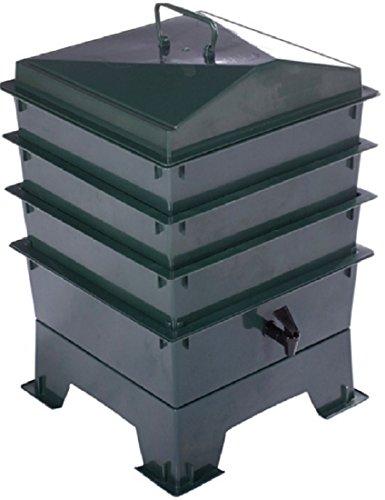 Deluxe Wurmkomposter-Set, 3Ebenen zum Stapeln, Kompost Lime Tray Set