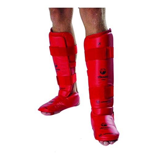 Schienbein und Fuß Tokaido Kumite Karate WKF approved, rot, Medium