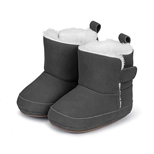Sterntaler Jungen Baby-Schuh Stiefel, Grau (Eisengrau 577), 20 EU
