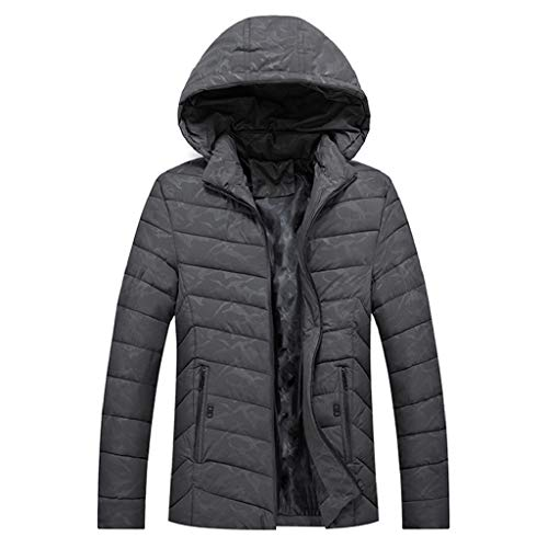 Luckycat Herren Winter Hoodie Camouflage verdickt Baumwolle Outwear -