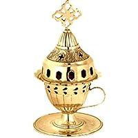 Christlich - Orthodoxe – Öl Lampe –Greek Orthodox Metal Kantili - Vigil Lampe (καντήλι) – aus Bronze - ewiges Licht- 209742B