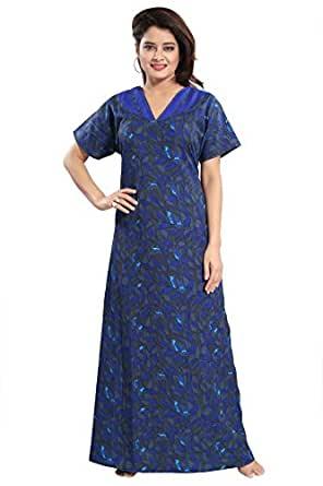 ... TUCUTE Women Girls Beautiful Printed Nighty Night Gown Night Dress Nightwear  (Bust bf45f0830c