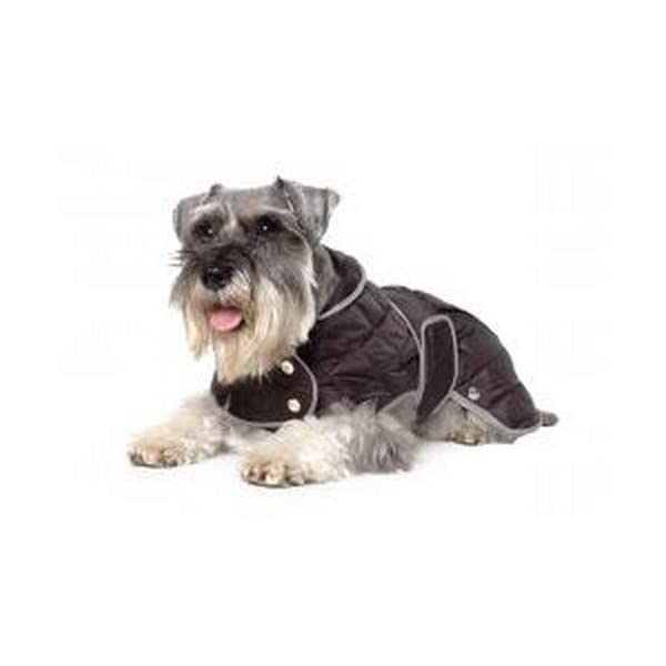 Muddy Paws Diamond Quilt Coat Black Small 1