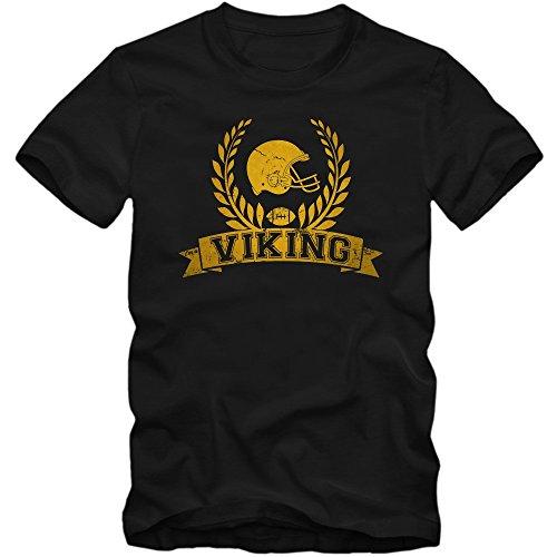 I'm a Viking #6 T-Shirt |Herren | Football | Helm | Super Bowl | Champion | American Sports | Fanshirt | 100% Baumwolle © Shirt Happenz Gelb (Gold L190)