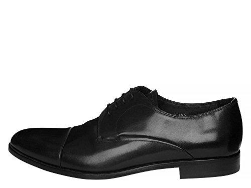 PRADA Messieurs Chaussures à lacets cuir véritable Noir