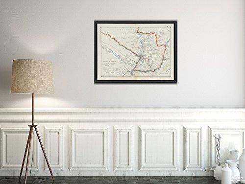 New York Map Company 1916 Karte Argentinien, Brasilien, Paraguay, Richard Mayer's Commercial of The Republic of Paraguay Relief s, Historischer Antik-Vintage-Nachdruck, fertig zum Rahmen. -