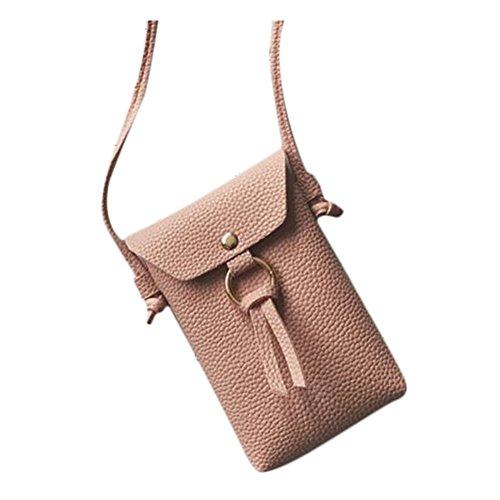 Outflower Sac à bandoulière pour femme tendance sac pour téléphone portable, sac à main, porte-monnaie 11*17*3cm rose