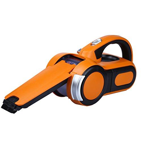 GBT-3007 12V 120W Aspirador de Mano para Coche (Movimiento 190°, Boquilla Retráctil, Portátil, Plegable) (Color Naranja y Negro)
