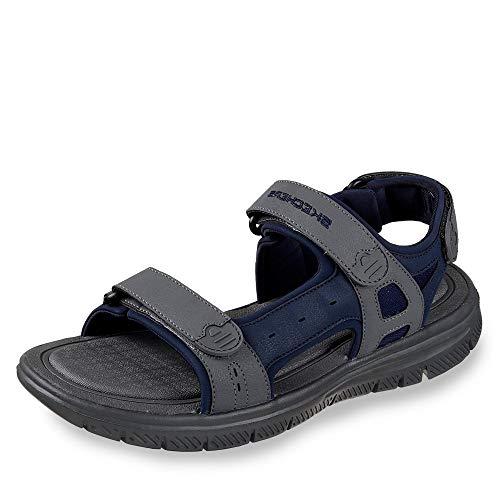 Skechers Flex Vorteil Upwell Mens Casual Sandalen 11 UK/ 46 EU Navy/Charcoal - Männer Sandalen 11 Für