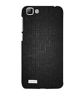 FUSON Geometric Texture Pattern Background 3D Hard Polycarbonate Designer Back Case Cover for Vivo V1