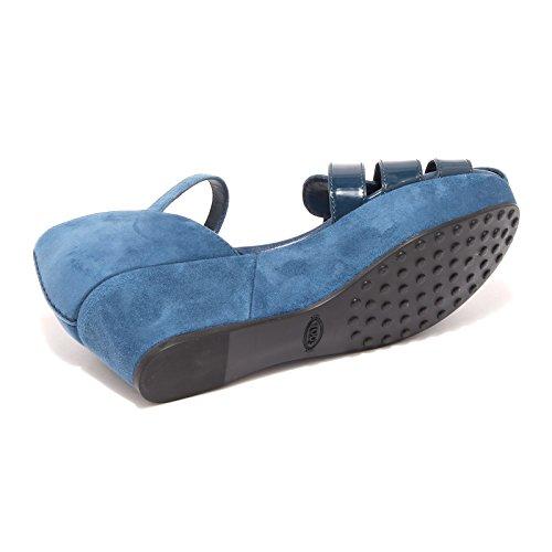 sandalo TODS zeppa scarpa donna shoes women 42833 TOD'S Blu