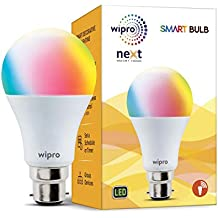 Wipro Next Smart LED Bulb Base B22 9-Watt (RGB + CCT) (Compatible with Amazon Alexa & Google Assistant)