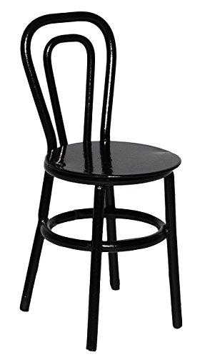 alles-meine.de GmbH 3 Stück: Stühle / Bistrostuhl / Gartenstühle - schwarz - aus Metall -...
