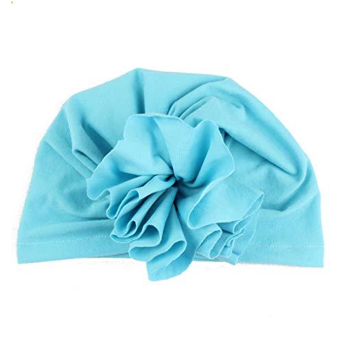 Kakiyi Schöne Blumen-Baby-Kind-Hut-Kappen Neugeborene Jungs-Mädchen-Winter-warm Mini Beanies Skullies Turban Cap