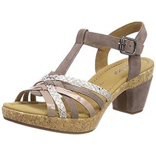 Gabor Shoes Damen Comfort Sport Riemchensandalen, Mehrfarbig (Dark Nude (Kork), 40 EU