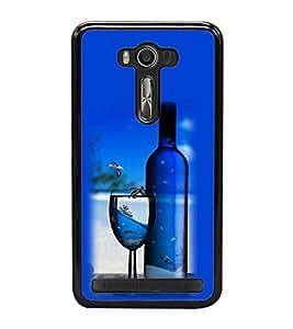 Vizagbeats Wine Bottle Glass Back Case Cover For Asus Zenfone Selfie