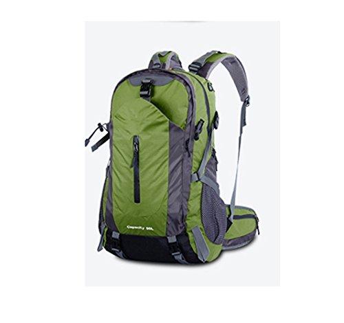 YAAGLE Wasserdicht Bergsteigen Taschen 50 L outdoor Rucksack Gepäck vielfältige Farben Trekkingrucksack Reisetasche-dunkelblau armee-grün