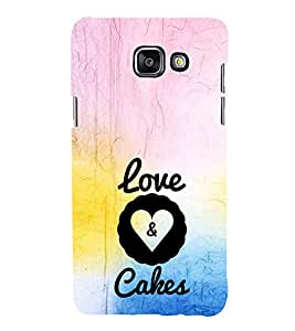 EPICCASE Love&Cakes Mobile Back Case Cover For Samsung Galaxy A3 (Designer Case)